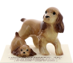 Hagen-Renaker Miniature Ceramic Dog Figurine Don Winton Cocker Papa and Pup