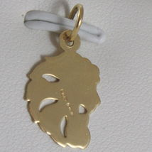 SOLID 18K YELLOW GOLD ZODIAC SIGN PENDANT, ZODIACAL CHARM, SATIN, MADE IN ITALY image 3