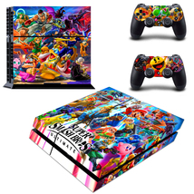 PS4 Console Controllers Skins Super Smash Bros Ultimate Decal Vinyl Stickers Set - $13.00