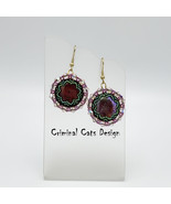"""Earrings with Cranberry Mother of Pearl """"Greek Love"""" - $27.30"""