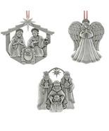 Reed & Barton Pewter Nativity Ornament Set Holy Family Kings Angel Chris... - $84.15