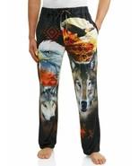 Men's Sleep Lounge Pajama PJs Pant Wolf & Eagle pockets black Size 2XL (... - $19.95