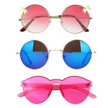 Bündel Von Sonnenbrille IN 3 Paar Mit Rund Damen Festival E08 - $21.74