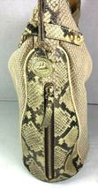 Brahmin Beige Fabric and Reptile Print Trim Shoulder Bag- Well Worn image 4