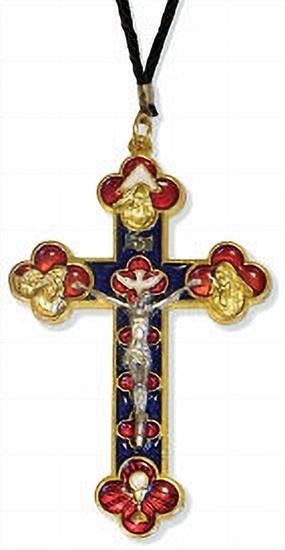 Enamel trinity pectoral cross 136