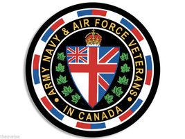 "CANADA CANADIAN SEAL ARMY NAVY AIR FORCE VETERAN 4"" USA MADE STICKER DECAL - $16.14"