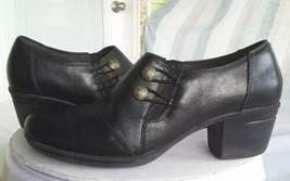 Clarks Womens Emslie Warren Classic Pump Block Heels Shoes Black Zipper ... - $13.99
