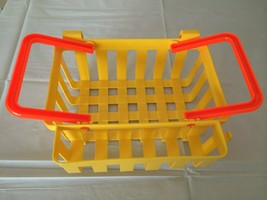Fisher Price Fun with Food Shopping Basket Pretend Play Yellow Toy 1984 ... - $17.99