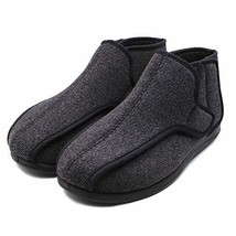 Mens Extra-Depth Wide Slippers Diabetic Edema Boot Adjustable Fuzzy Cora... - $55.72