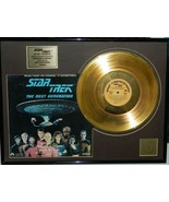 Star Trek Next Generation Soundtrack Volume 1 Gold Plated Record Matted ... - $120.93