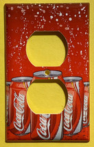 Coke Coca-Cola 12oz Can Toggle Rocker Light Switch Outlet wall Cover Plate decor image 2