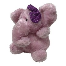 """Russ Berrie Luvvies Plush Pink Elephant Annette 4"""" Mini Stuffed Animal Toy - $13.50"""