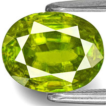 INDIA Sphene 2.66 Cts Natural Untreated Intense Green Oval - $599.00