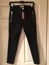 Michael Kors NWT Black Riding Pants w/ Suede  Size 0 - $450.00