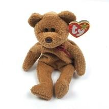 TY Beanie Baby Curly Teddy Bear 1993 Tush 1996 Hang Tag - $9.50