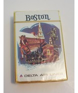 Vintage Delta Airlines Playing Card Boston Sweeney Poster Art 1960 - $14.99