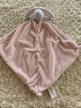 Angel Dear Girls Pink White Fleece Bunny Rabbit Lovey Security Blanket Toy - $12.13