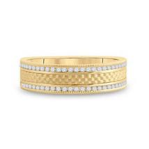 14kt Yellow Gold Mens Round Diamond Wedding Brick Band Ring 1/3 Cttw - $978.52