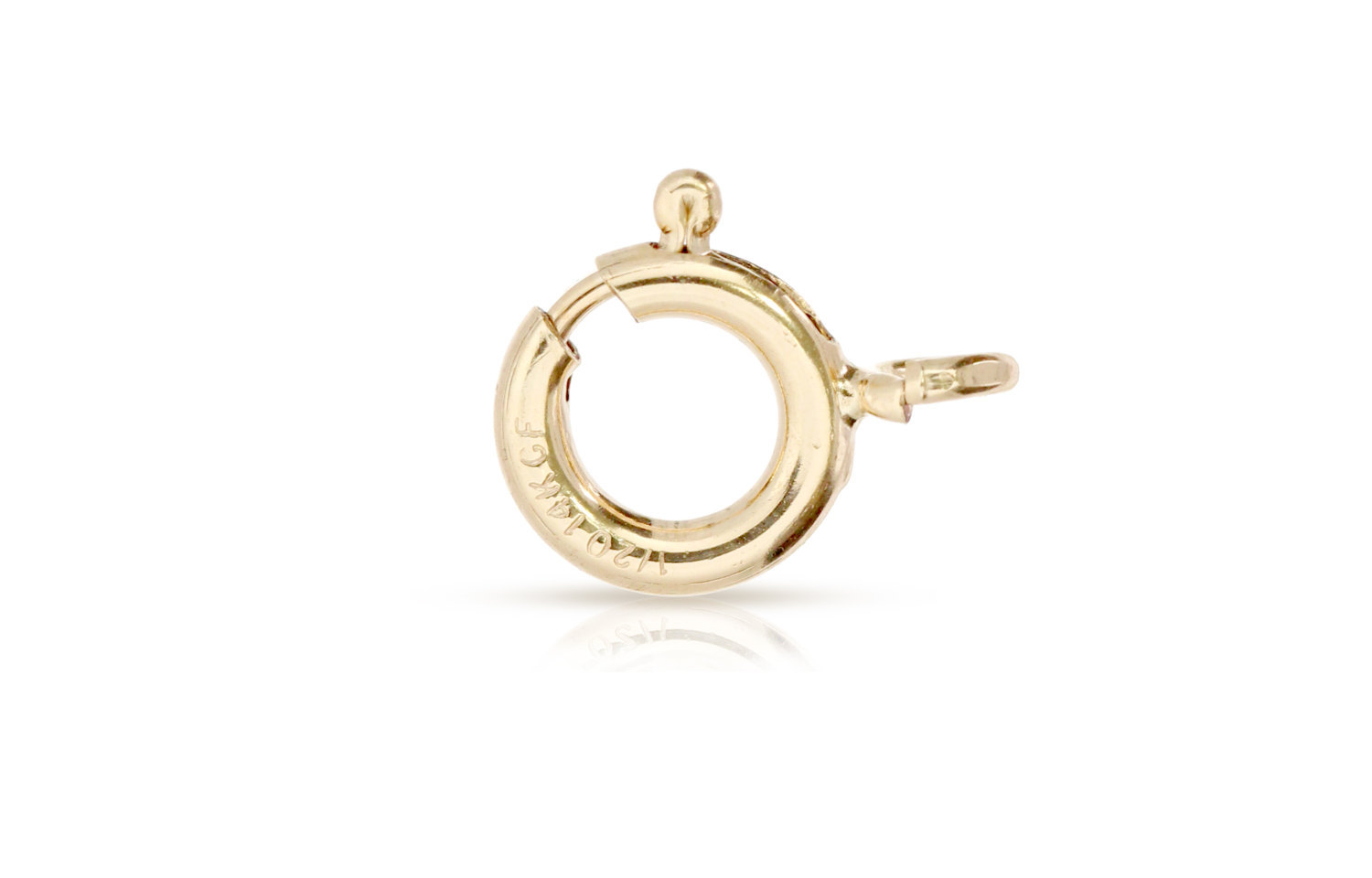 Primary image for Clasps, Spring Ring With Fixed Open Ring, 14Kt Gold Filled, 6mm, 20pcs (2665)/1