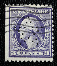 US Stamp Sc #502 Used STAR Perfin Des. 31 G.W. Huntley & Co. Chicago ILL. - $29.99