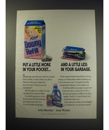 1991 Downy Refill Ad - Put a little more in your pocket - $14.99