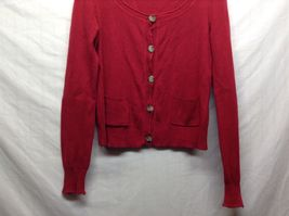 Aeropostale Red Button Up Cardigan Sz XL image 3