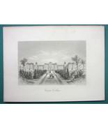 VASSAR COLLEGE Building in Poughkeepsie New York State - 1876 Engraving ... - $21.42