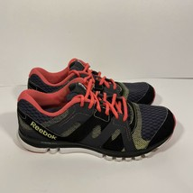 Reebok Sublite Duo Women's Running Shoes Size 7 Black Pink Sport Lace Up... - $34.64