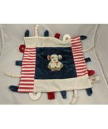 Maison Chic Dog Lovey Security Blanket Red Stripes Blue Knotted Stuffed ... - $9.95