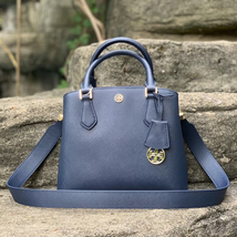 Tory Burch Robinson Small Royal Navy Triple-Compartment Tote - $442.00