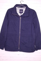 Gap Field Utility Navy Blue Drawstring Jacket Coat Boyfriend Fit Womens ... - $37.39