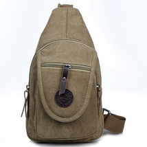 Mens Chest Pack Messenger Bags Casual Canvas Male Crossbody Shoulder Bag... - $46.26