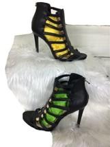 Jessica Simpson black strap heels Stilettos 4 1/2 inch - $15.83