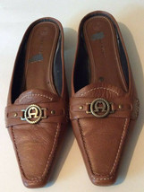 Etienne Aigner Womens Loafers Brown Stitched Cuban Heels Pointed Toe Slip Ons 8 - $14.84