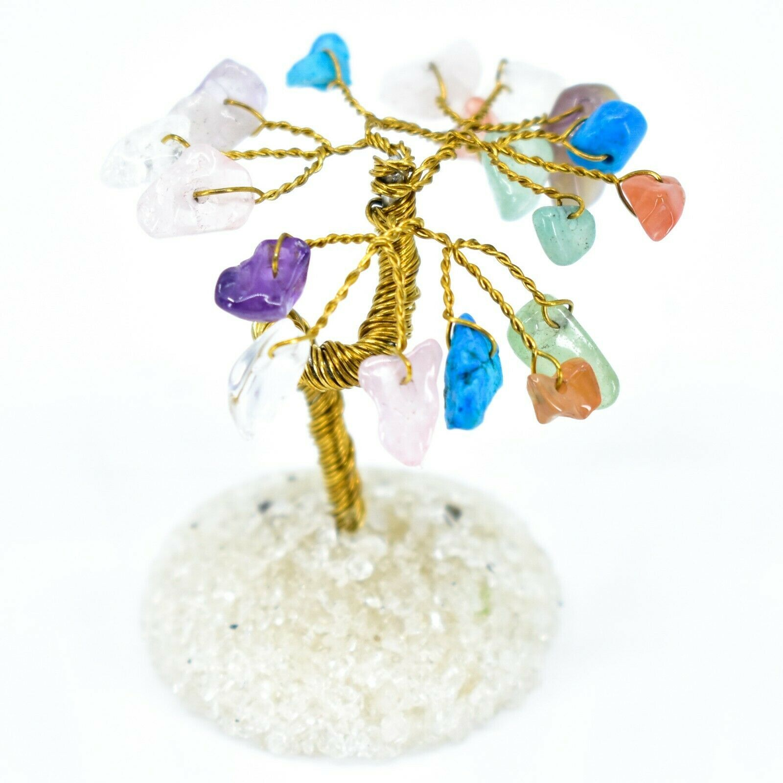 Mixed Polished Gemstone Colorful Variety Miniature Gem Tree Mini Gemtree