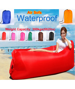 Inflatable Air Sofa Bed Lazy Sleeping Camping Bag Lounge Beach Hangout C... - $25.00