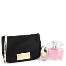 Versace Bright Crystal Perfume 3.0 Oz Eau De Toilette 3 Pcs Gift Set image 4