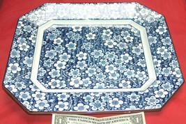 Hermoso sin Marcar 27.9X33cm Azul y Blanco, Marrón Ridge Floral de Servi... - $54.62