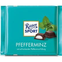 ORIGINAL German Ritter Sport Pfefferminz/ Peppermint fill chocolate bar -100g - - $3.95