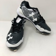 NWOB Mens Under Armour Heater ST Baseball Metal Cleats Size 11.5 Black White - $33.65