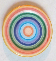 Hand Painted Collection Multi-colored Swirl Design Side Plate Rondo by T... - $8.50