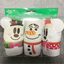 Tokyo Disney Resort Christmas 2015 Snow Snowman Towel Set Mickey Olafmin... - $68.31