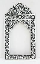 Picture Frame Camel Bone Wood Embossed Flower Design Mirror Art Vintage ... - £155.42 GBP