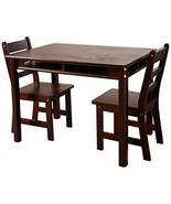 Lipper International 534E Child's Rectangular Table with Shelves and 2 C... - $223.45