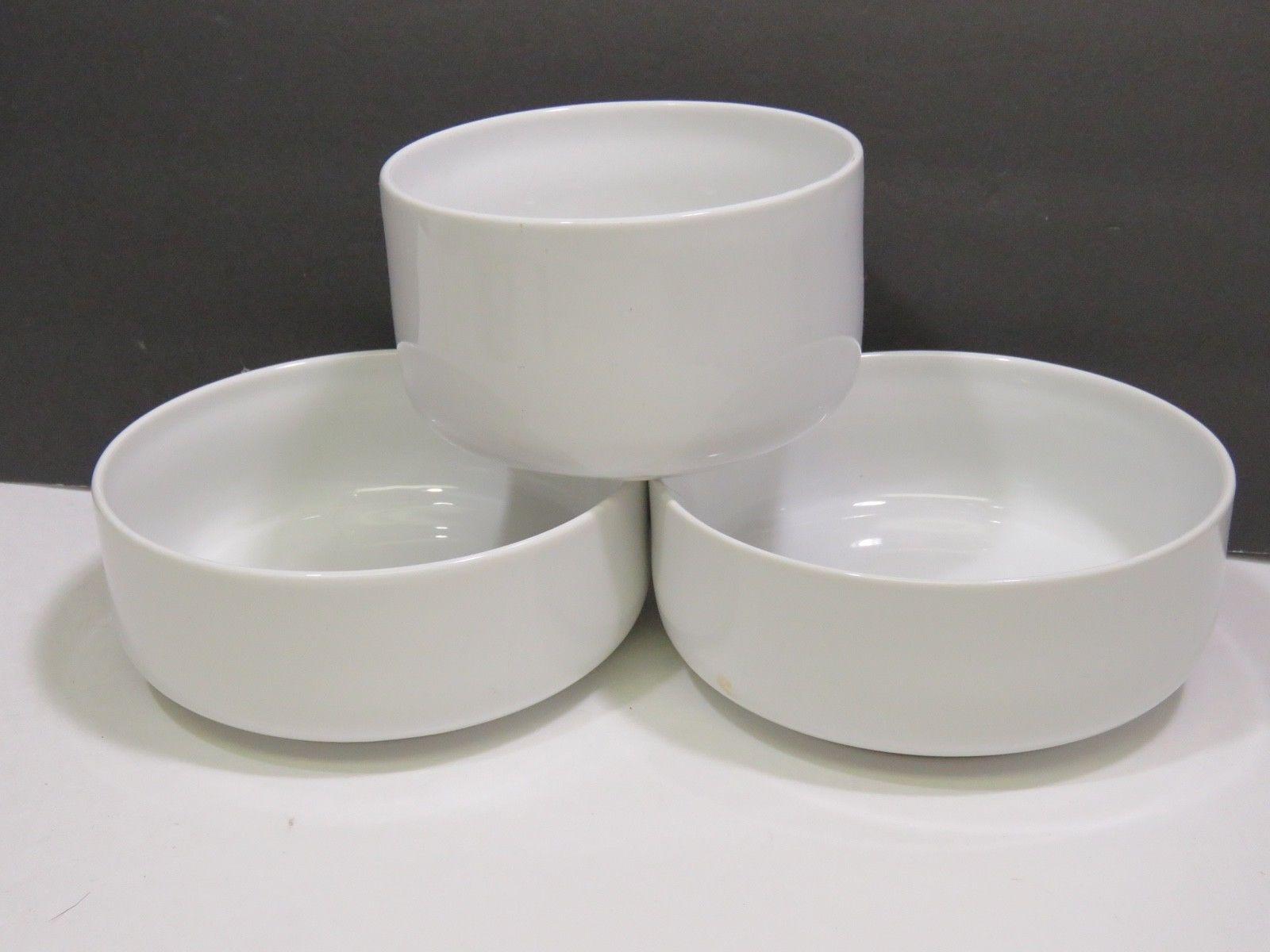 3 Dansk International Designs Japan White Bowls 2 Sizes Mid Century Modern  - $31.68