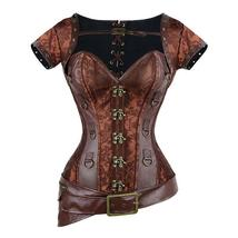 Steampunk Style Sexy Gothic Brown Vintage Retro Lace Up Bustier Corset image 1