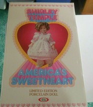 "Vintage Shirley Temple Limited Edition Porcelain Doll NIB Ideal  16"" 1982 - $148.50"