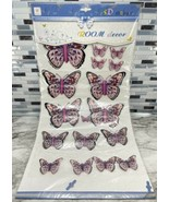 18pc Gooddays Dimensional Chipboard 5D Stickers Decor BUTTERFLIES Red & ... - $39.55