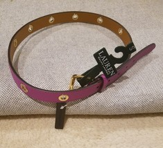 LAUREN RALPH LAUREN ROLLER BUCKLE ON GROMMET STRAP BELT Size Small - $22.99