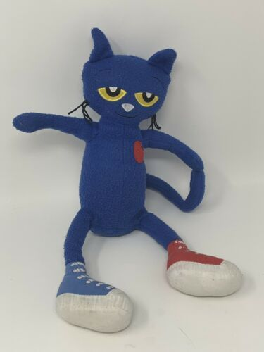 "Merrymakers Plush Pete the Cat In Sneakers Toy Blue Stuffed Animal Doll 12"" Tall"